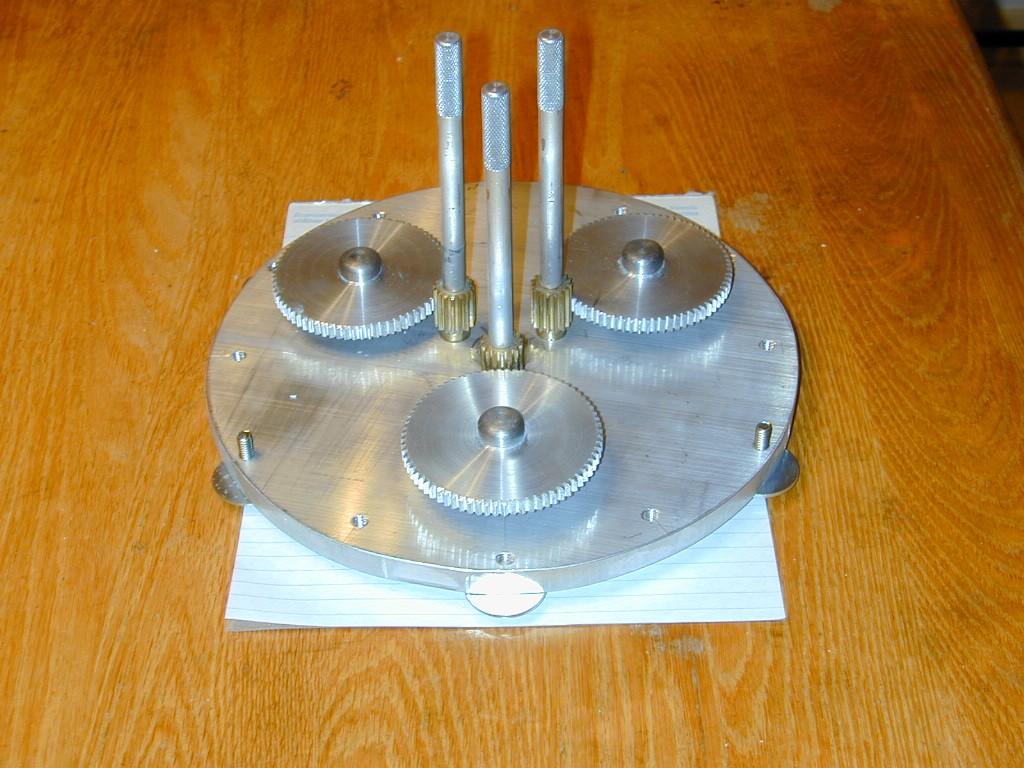 Plaque aluminium avec engrenages