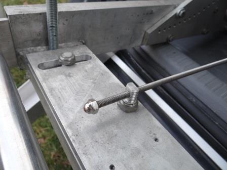 Declination Tangent Arm closeup of screw